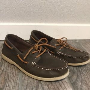 JCrew leather Quoddy Boat Shoes Men's 10